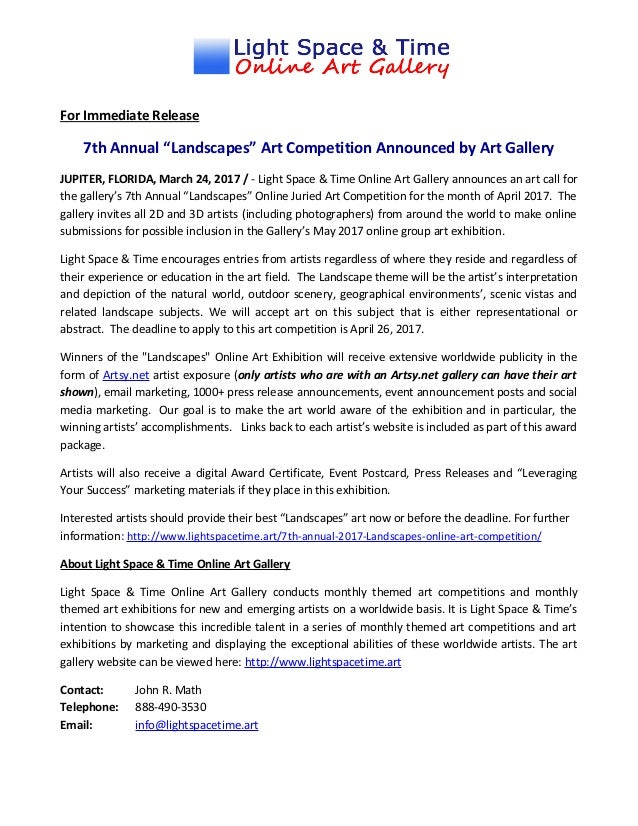 Abstract Art Competitions 2016 Uk