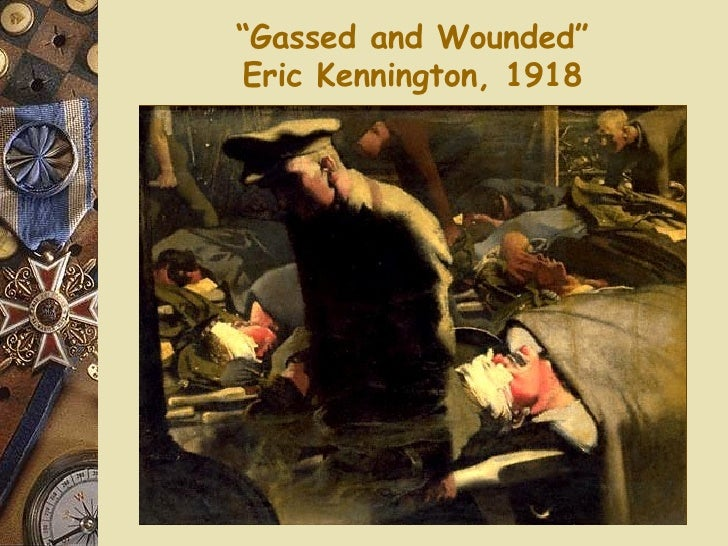 """"""" Gassed and Wounded"""" Eric Kennington, 1918"""