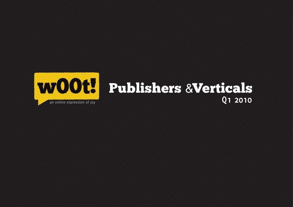 Publishers &Verticals an online expression of joy                                                                       Q1...