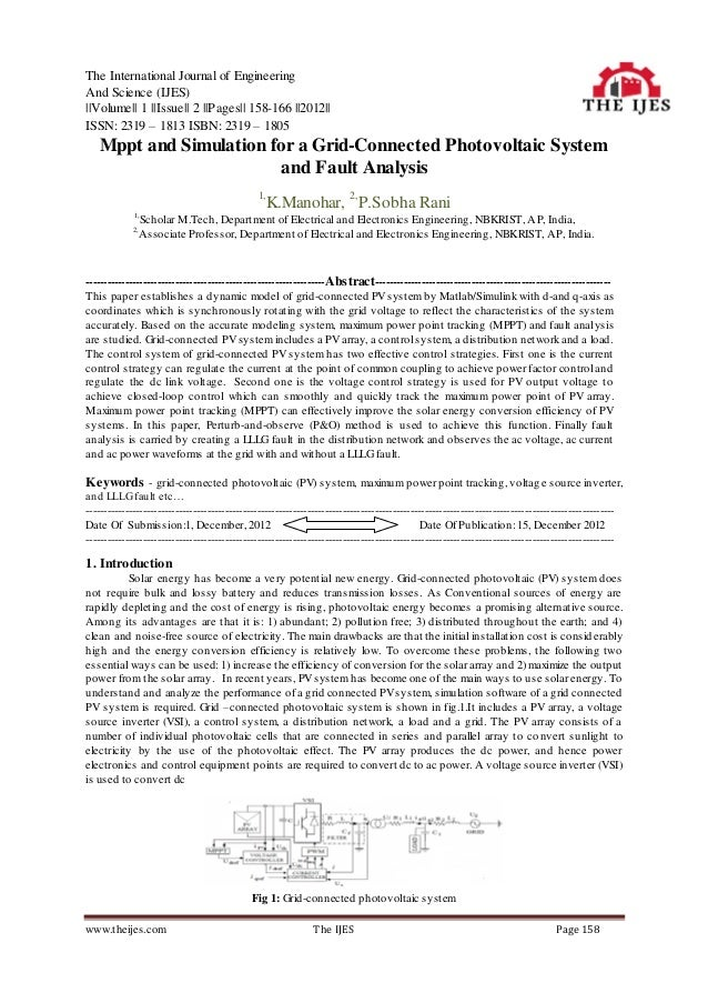 The International Journal of EngineeringAnd Science (IJES)||Volume|| 1 ||Issue|| 2 ||Pages|| 158-166 ||2012||ISSN: 2319 – ...