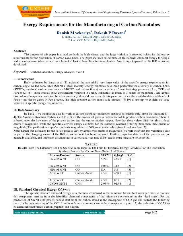 International Journal Of Computational Engineering Research (ijceronline.com) Vol. 2 Issue. 8        Exergy Requirements f...