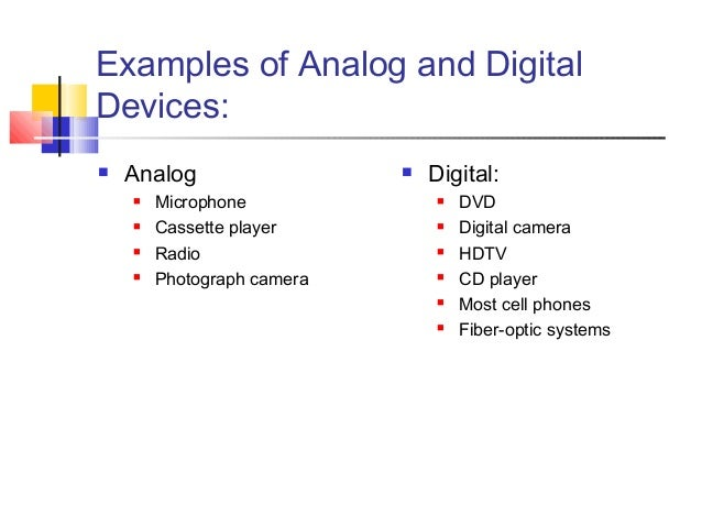 Examples Of Analog Devices Idealstalist