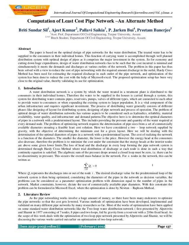 International Journal Of Computational Engineering Research (ijceronline.com) Vol. 3 Issue. 2       Computation of Least C...