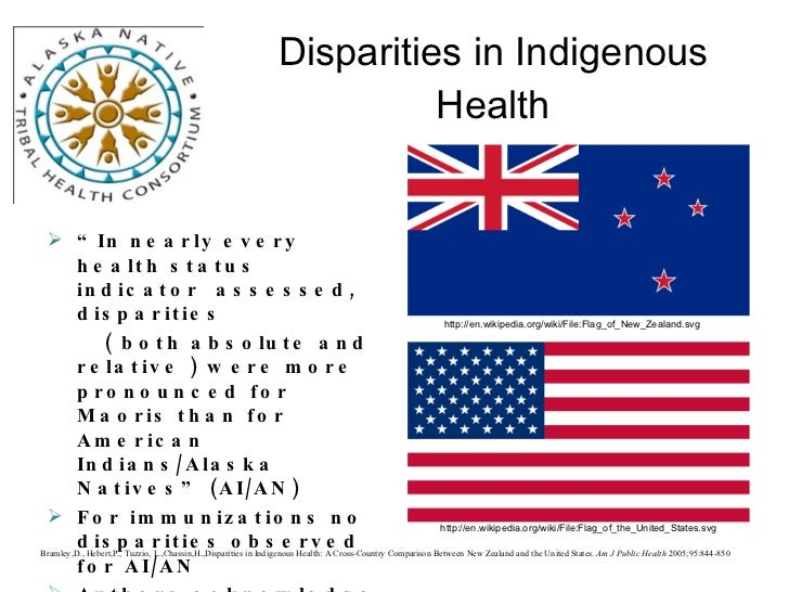 health disparities between maoris and non maoris The maoris of the south island  health so that māori could enjoy at least the same level of health as non  health outcome disparities between the various.