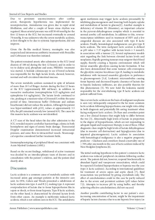 Annex Publishers | www.annexpublishers.com  Volume 1 | Issue 2  Journal of Case Reports and Studies  2  Due to persistent ...