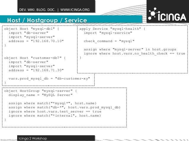 Icinga2 Hacking Session 2014-10-10