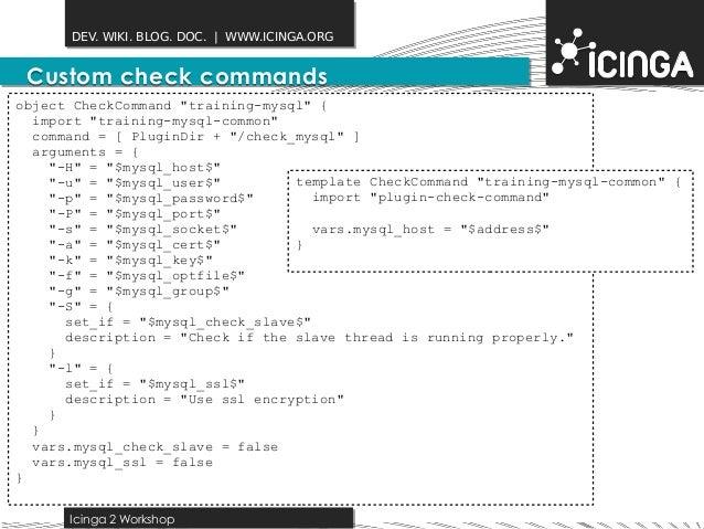 Icinga2 hacking session 2014 10 10 for Consul mysql health check
