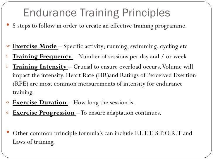 W12 endurance training