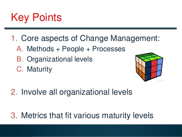 An argument in favor of implementing organizational change