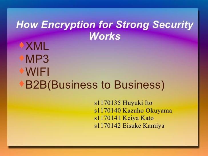 How Encryption for Strong Security Works s1170135 Huyuki Ito s1170140 Kazuho Okuyama s1170141 Keiya Kato s1170142 Eisuke K...