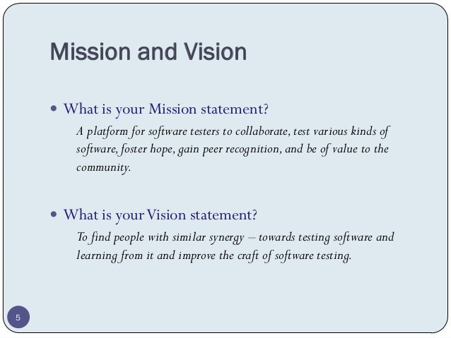 Vision, Mission, Goals and Core Values