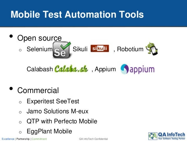 Test Automation for Mobile Applications: A Practical Guide