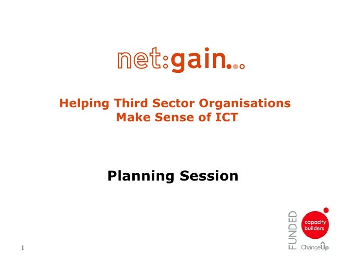 Helping Third Sector Organisations  Make Sense of ICT Planning Session
