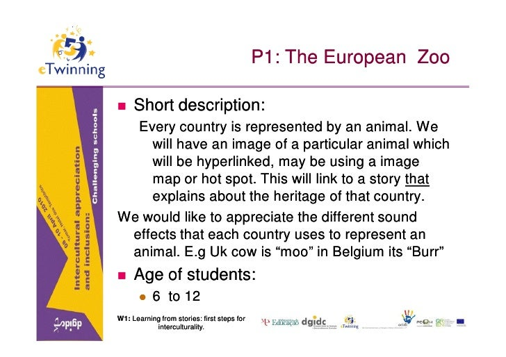 P1: The European Zoo      Short description:   Every country is represented by an animal. We     will have an image of a ...