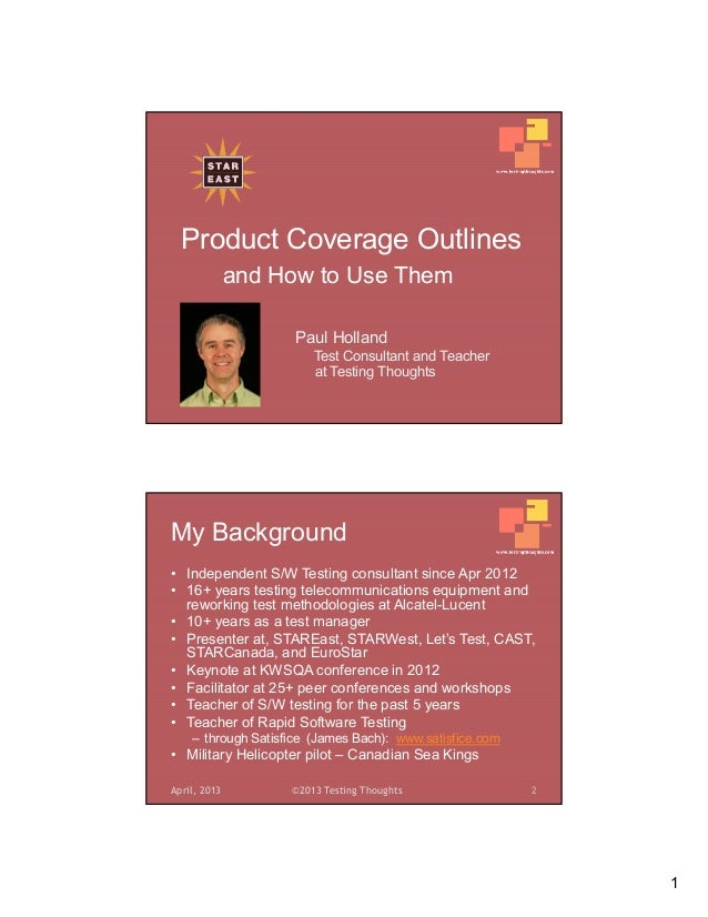 The Test Coverage Outline: Your Testing Road Map Slide 3