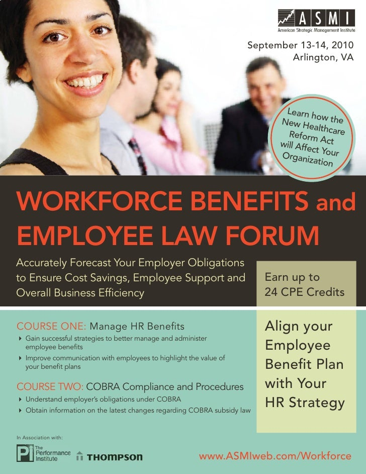 WORKFORCE BENEFITS AND EMPLOYEE LAW FORUM                                                                         Septembe...