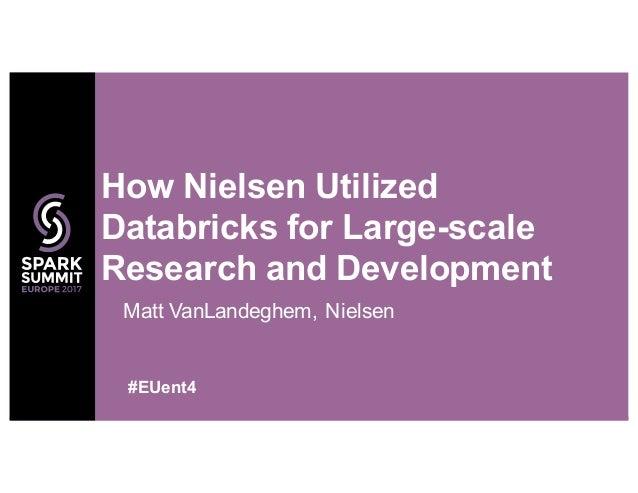 Matt VanLandeghem, Nielsen How Nielsen Utilized Databricks for Large-scale Research and Development #EUent4