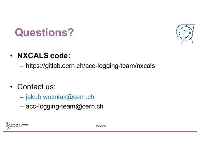 Next CERN Accelerator Logging Service with Jakub Wozniak