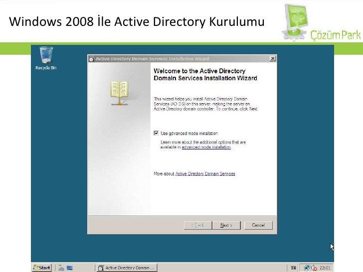 Windows 2008 İle Active Directory Kurulumu<br />