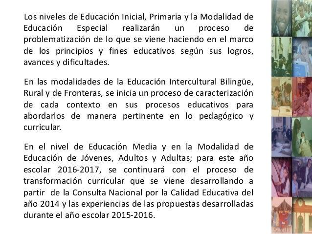 Proceso de transformacion curricular profesora sor hern ndez for La accion educativa en el exterior