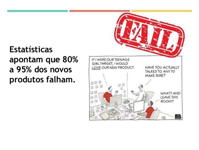 Estatísticas apontam que 80% a 95% dos novos produtos falham.
