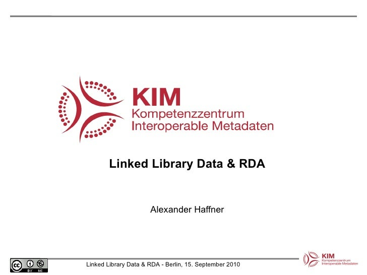 Linked Library Data & RDA Alexander Haffner