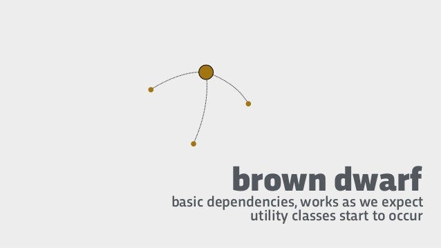 brown dwarfbasic dependencies, works as we expect utility classes start to occur