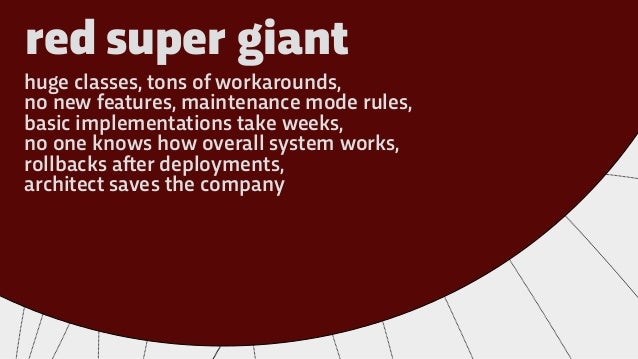 red super giant huge classes, tons of workarounds, no new features, maintenance mode rules, basic implementations take wee...