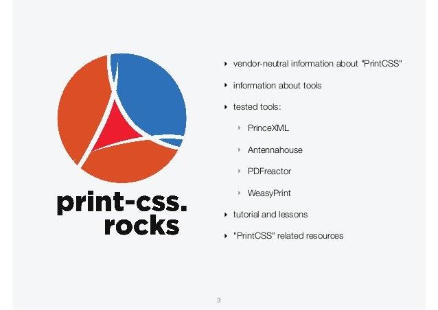 PrintCSS W3C workshop at XMLPrague 2020 Slide 3