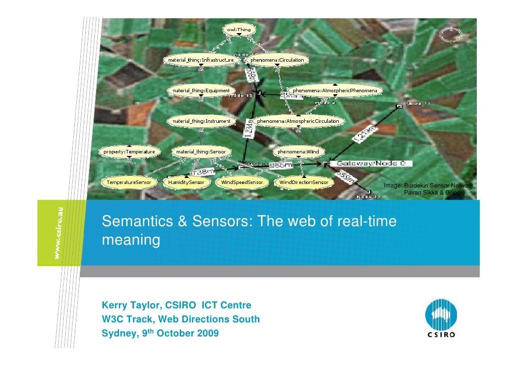 Image: Burdekin Sensor Network,                                               Pavan Sikka & Google     Semantics & Sensors...
