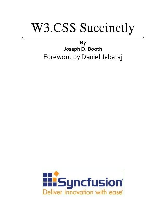 W3 css succinctly Slide 2
