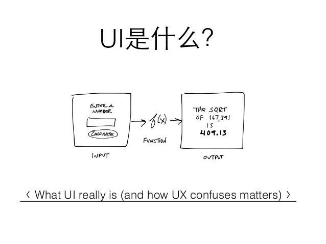 UI是什么? 〈 What UI really is (and how UX confuses matters) 〉