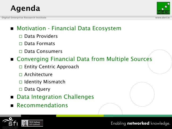 Challenges Ahead for Converging Financial Data Slide 2