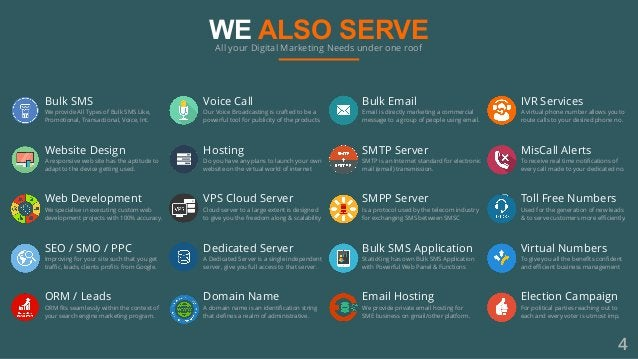 WE ALSO SERVEAll your Digital Marketing Needs under one roof Hosting Do you have any plans to launch your own website on t...