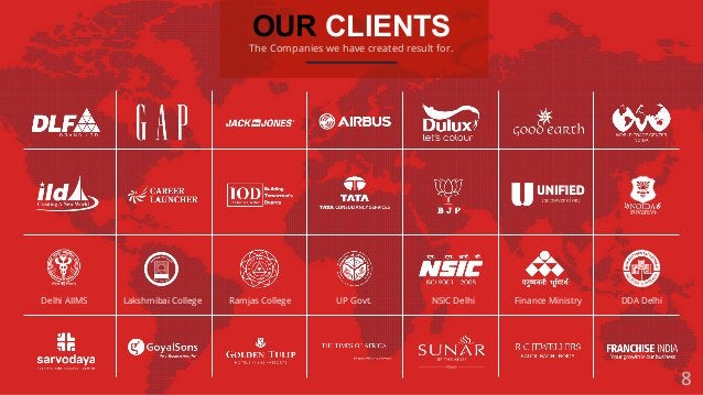 OUR CLIENTS The Companies we have created result for. Delhi AIIMS Lakshmibai College Ramjas College UP Govt. Finance Minis...