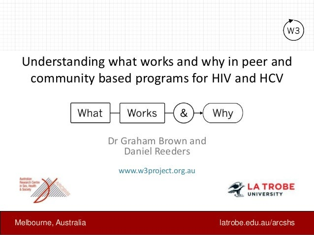 Understanding what works and why in peer and community based programs for HIV and HCV Dr Graham Brown and Daniel Reeders w...