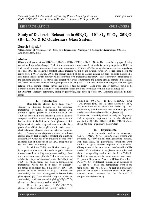 Suresh Sripada Int. Journal of Engineering Research and Applications ISSN : 2248-9622, Vol. 4, Issue 1( Version 3), Januar...