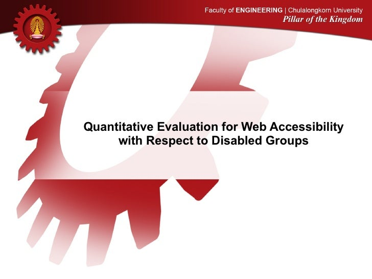Quantitative Evaluation for Web Accessibility with Respect to Disabled Groups