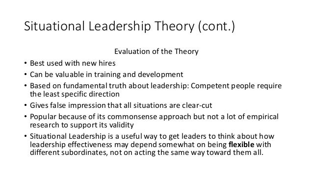 situational contingency leadership
