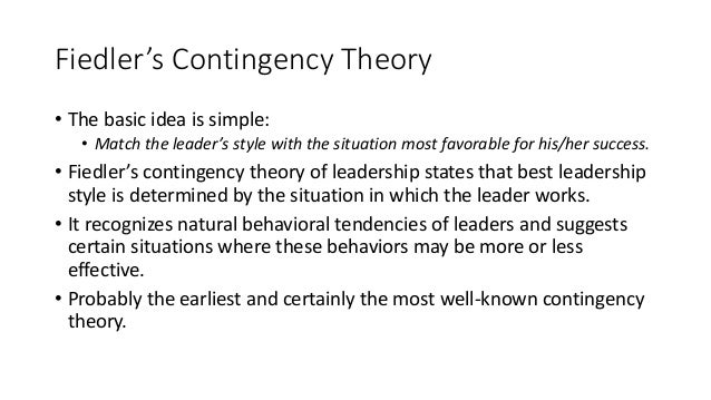 situational and contingency theory