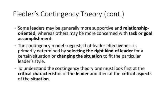 critically examine fiedler s contingency theory of leadership effectiveness Home leaders and leadership modular  fiedler's contingency theory  the next contingency theory of leadership we will examine does not hold.