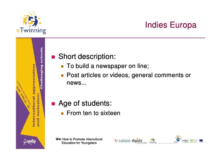 Indies Europa       Short description:           To build a newspaper on line;           Post articles or videos, gener...
