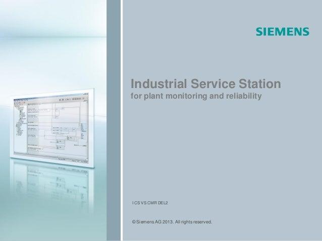 I CS VS CMR internal / Copyright Siemens 2008 © Siemens AG 2013. All rights reserved.05-20121 Industrial Service Station f...