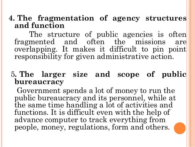 bureaucracy in public administration Administrative law, the legal framework within which public administration is carried out it derives from the need to create and develop a system of public administration under law, a concept that may be compared with the much older notion of justice under law since administration involves the.