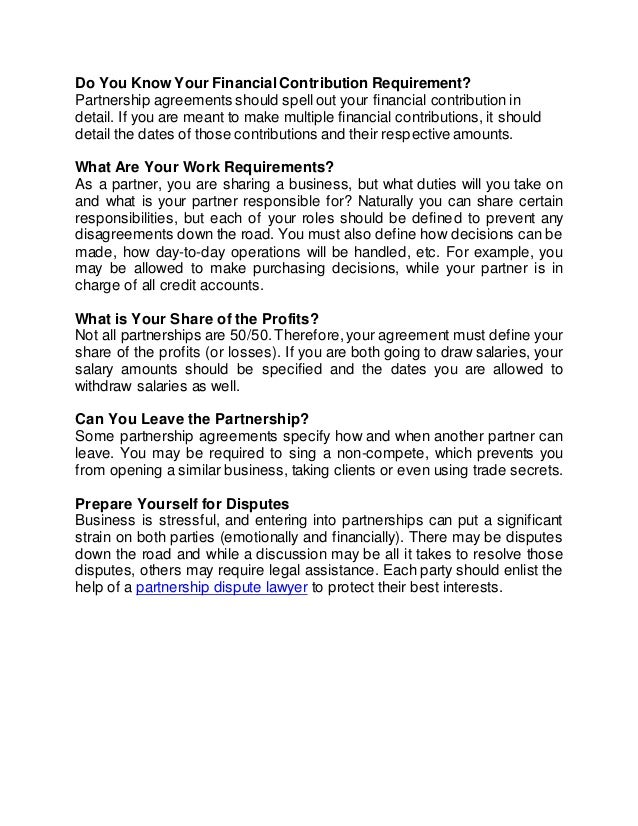 Partnership Agreements Sample General Partnership Agreement