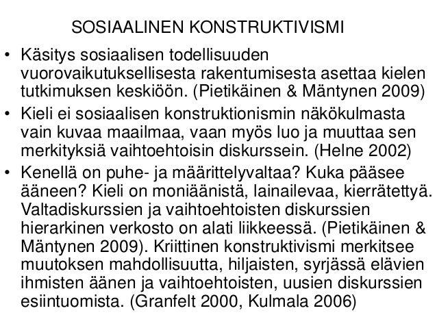 Sosiaalinen Konstruktivismi