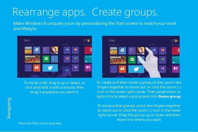 meet the new microsoft windows 8 user guide rh slideshare net Microsoft Office Reference Guides Microsoft Office Guide