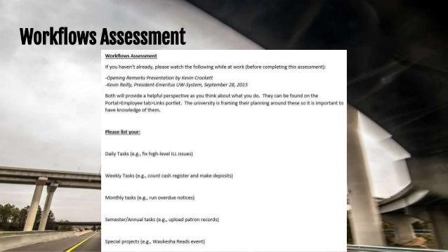 Workflows Assessment