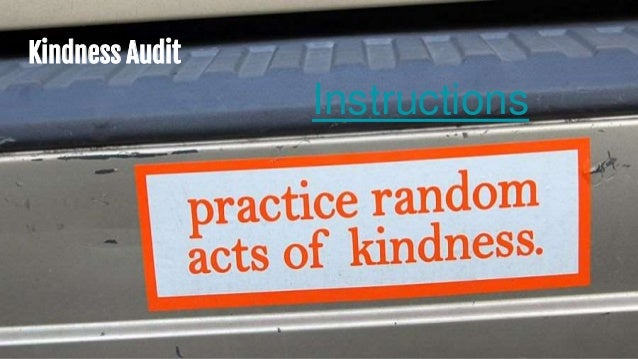 Kindness Audit Instructions