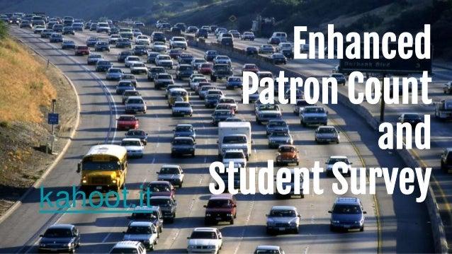 Enhanced Patron Count and Student Surveykahoot.it